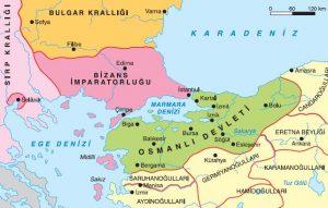 Osmanlı Devleti Kuruluş Dönemi Haritası