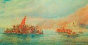 Osmanlıların Rumeli'ye geçişini gösteren temsili bir resim (Hasan Zavari)