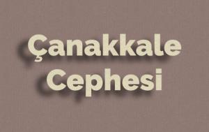 Çanakkale Cephesi