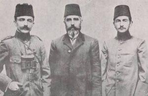 Enver Paşa (sol başta)