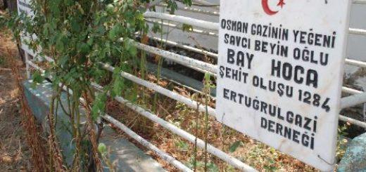 İlk Osmanlı şehidi Bay Hoca'nın Hamza Bey Köyündeki Türbesi