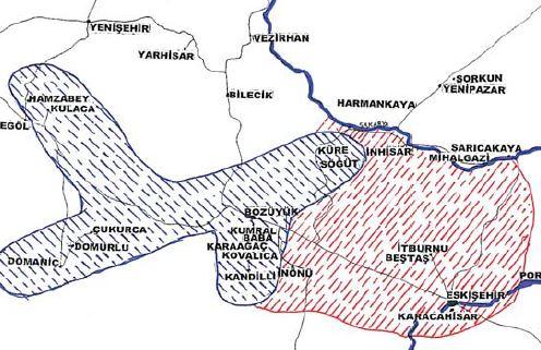 Karacahisar fethiyle genişleyen Osman Gazi arazisi