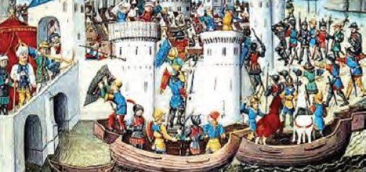 İstanbul'a ulaşan Haçlılar (Temsilî)