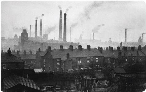 XIX. yüzyılın ikinci yarısı, Manchester şehrinde hava kirliği