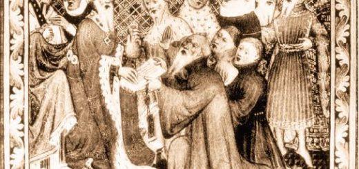 Marco Polo Kubilay Han'ın huzurunda (Temsilî)