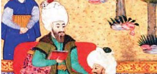 Ali Kuşçu'nun Fatih Sultan Mehmet'le karşılaşmasını anlatan minyatür