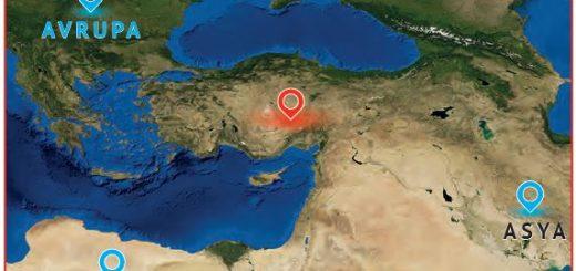 Anadolu ve çevresinin uydu fotoğrafı