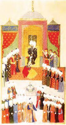 II. Mehmet'in tahta çıkışı (Minyatür)