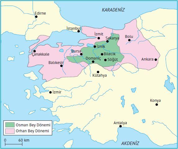 Osman ve Orhan Bey dönemlerinde Osmanlı Devleti