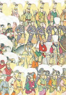 Sefere çıkan askerler (Minyatür)