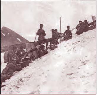 Kafkas Cephesi'ndeki makineli tüfek birliği, 1915