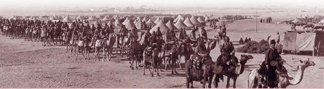 Kanal Cephesi'nde ilerleyen Türk kuvvetleri