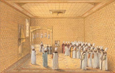 Padişahın devlet adamlarıyla görüşmesi (Temsilî)