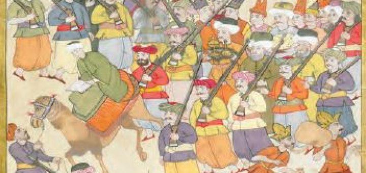 Osmanlı toplumunda askerî ve reayayı gösteren minyatür