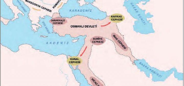 I. Dünya Savaşı'nda Osmanlı Devleti'nin savaştığı cepheler